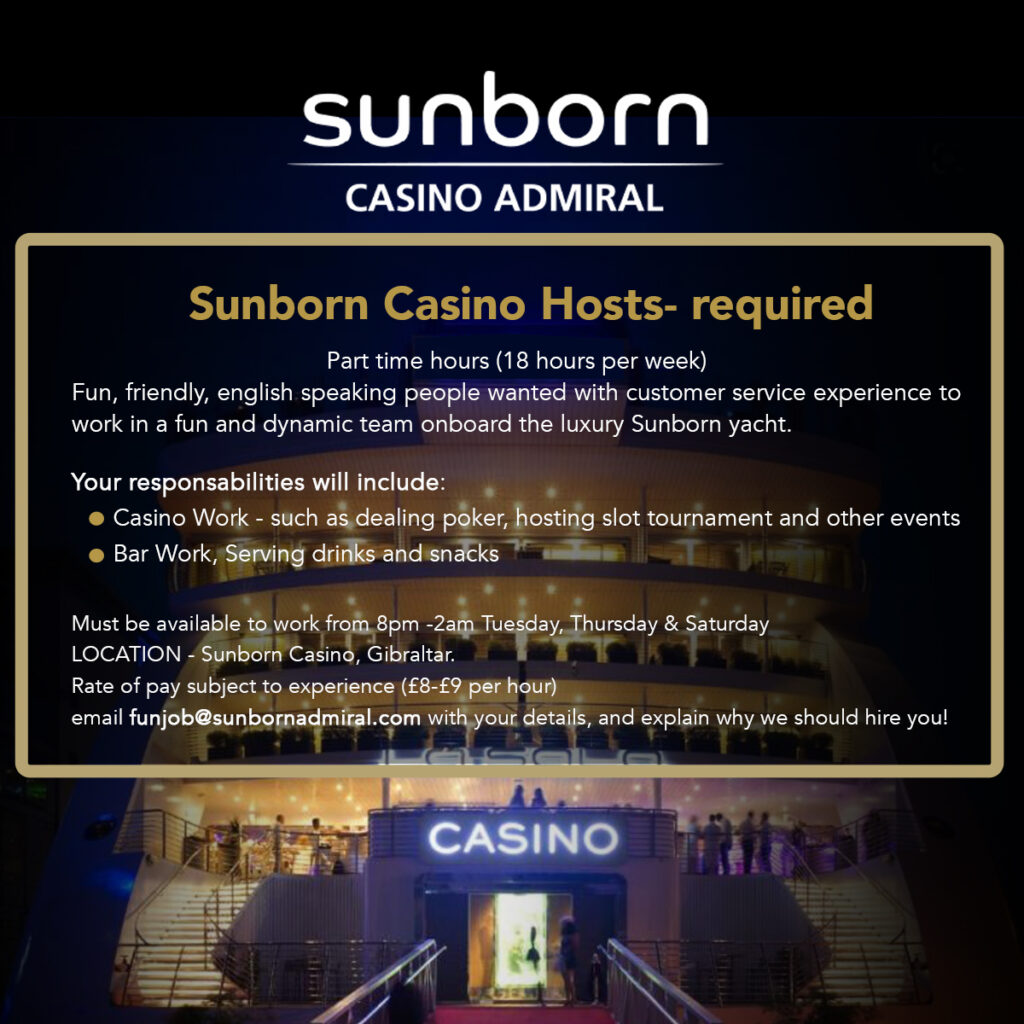 Sunborn Hosts Hiring
